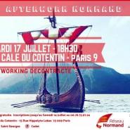Les Apéros Normands deviennent les Afterwoks Normands    17 Juillet : 18h30   Paris