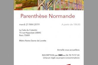 La Parenthèse Normande : mardi 21 mai    (le RV mensuel du Réseau Normand à Paris)
