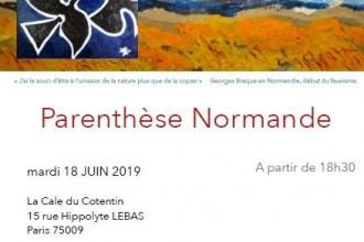 La Parenthèse Normande : mardi 18 juin    (le RV mensuel du Réseau Normand à Paris)