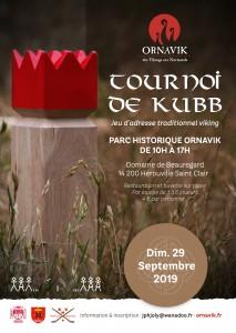 ORNAVIK Affiche tournoi kubb