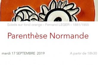La Parenthèse Normande : mardi 17 septembre   (le RV mensuel du Réseau Normand à Paris)