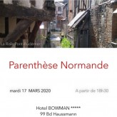 ANNULATION          Parenthèse Normande à Paris  du  17 mars