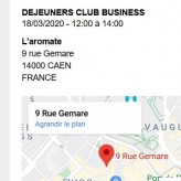 déjeuners club business   CAEN  mercredi 18 mars    12:00 à 14:00
