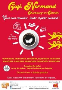 affiche cafés en normand