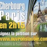 Ligne Nouvelle Paris Normandie :   pétition